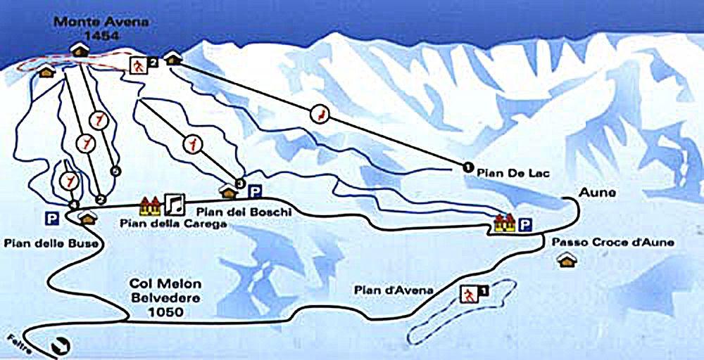 Monte Avena Panoramabild groß - Monte Avena Pedavena
