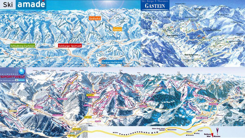 Ski Amadé Panoramabild groß - Ski Amade Altenmarkt-Zauchensee
