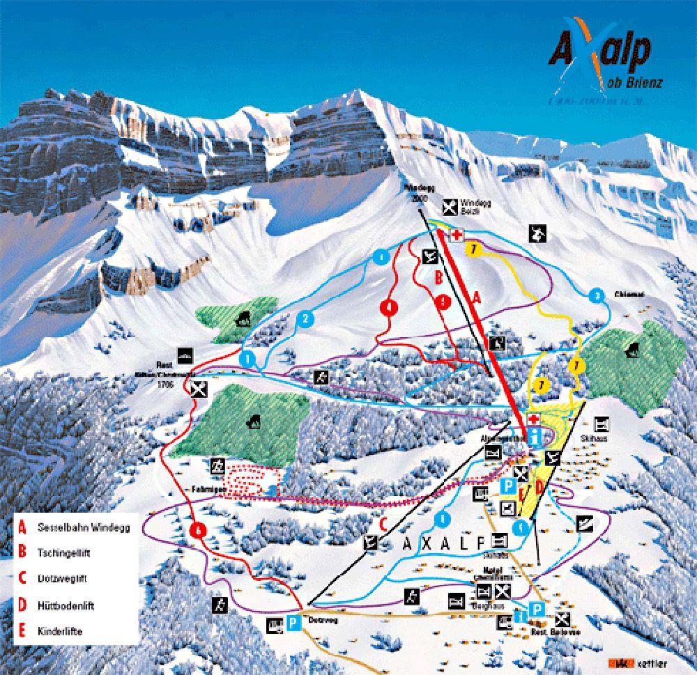 Axalp - Brienz Panoramabild groß - Axalp - Brienz Brienz