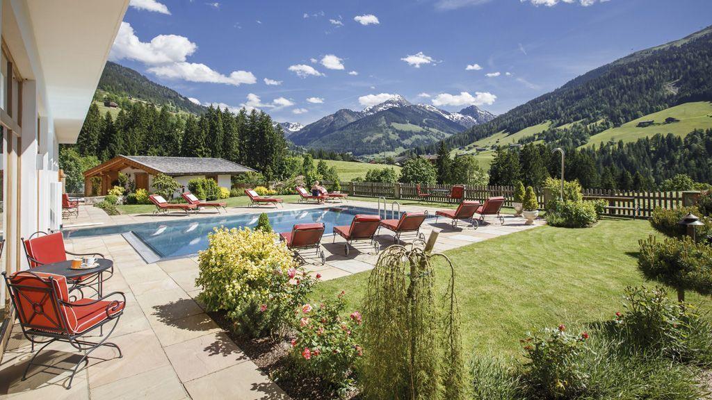 wunderschöner Spa mit Pool und Blick zum Großen Galtenberg - Natur- und Spa Resort Der Alpbacherhof ****S Alpbach
