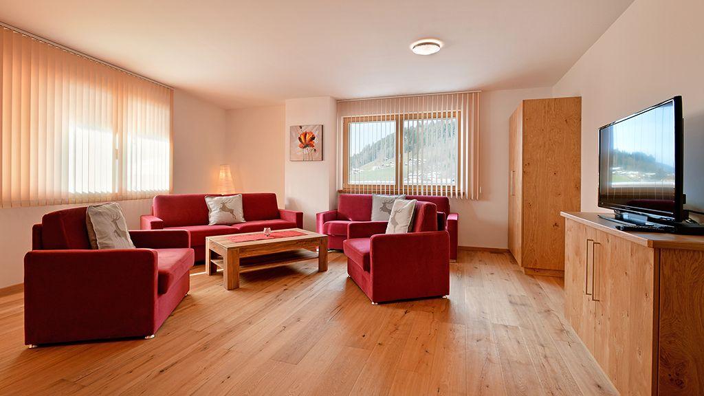 Ferienwohnung Salvenblick Wohnzimmer - Appartementhaus Amelie Westendorf
