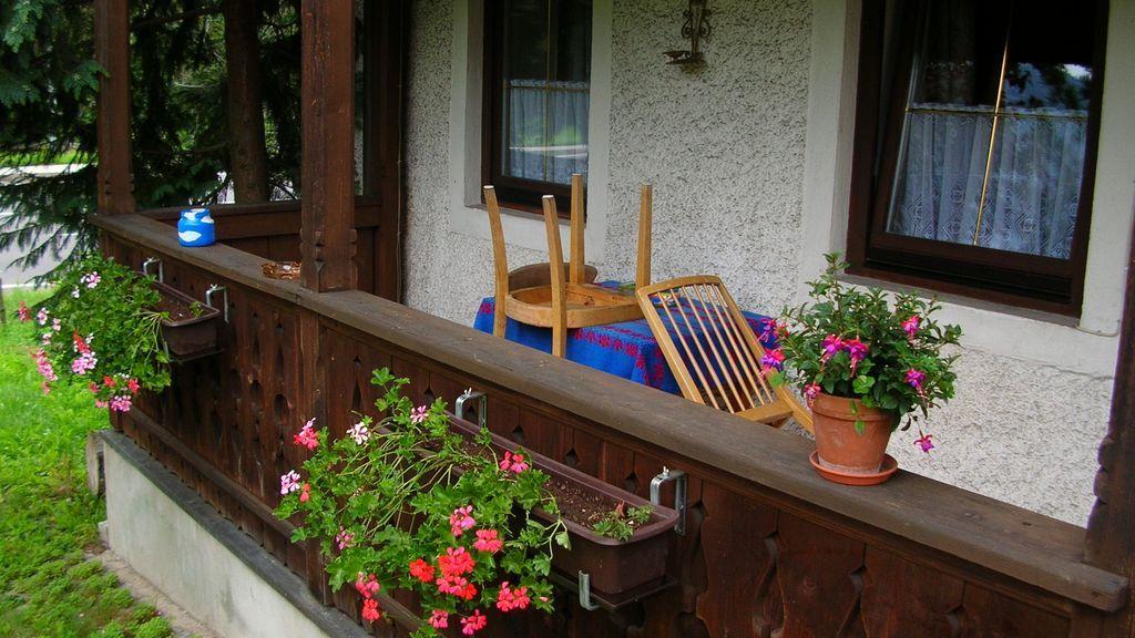 Terrasse  - Ferienwohnung Kranhaeusl Bad Goisern