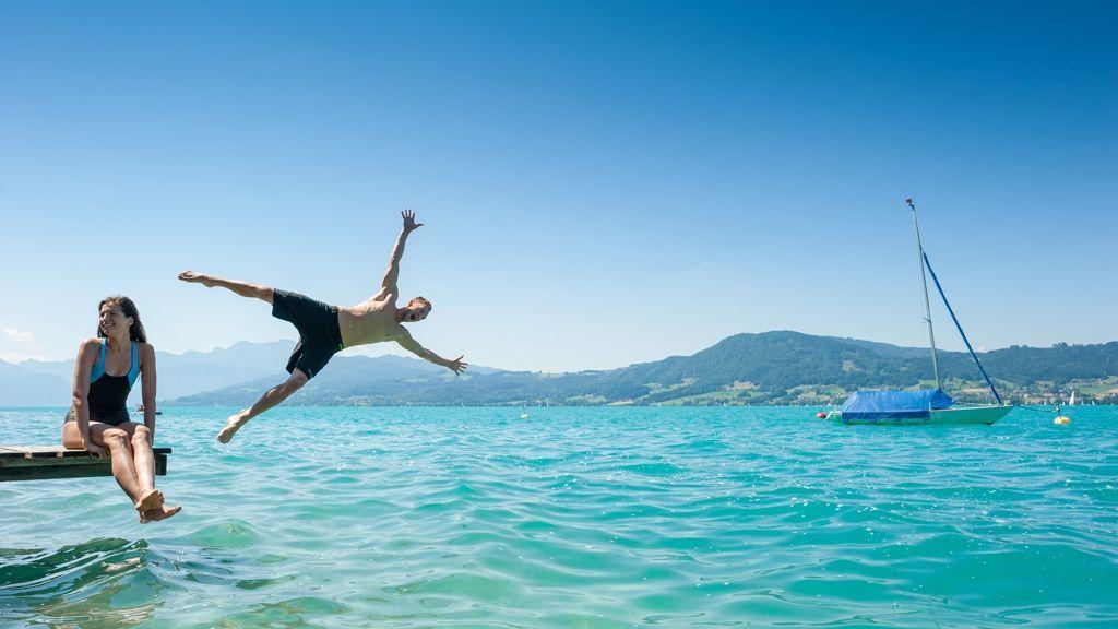 Badespaß im Salzkammergut - Foto: OÖ Tourismus