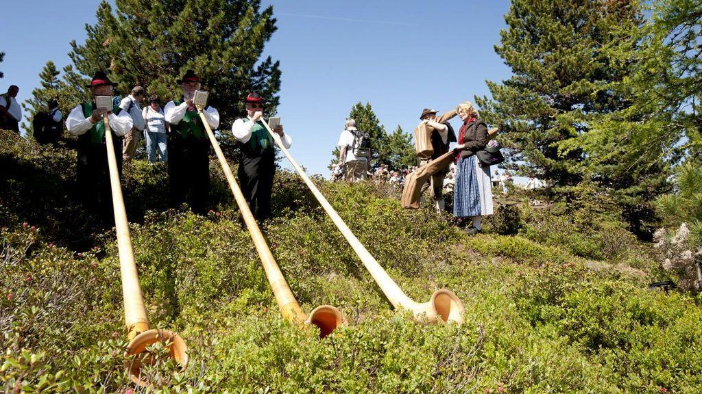 Alphorntreffen in Oetz © Ötztal Tourismus/Ewald Schmid