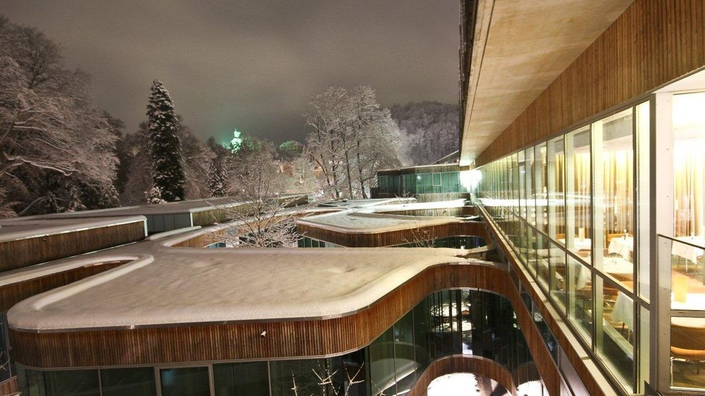 Die Therme der Ruhe, Das Kurhaus Bad Gleichenberg Außenansicht (c)Kurhaus Bad Gleichenberg - Thermenland Steiermark Steiermark