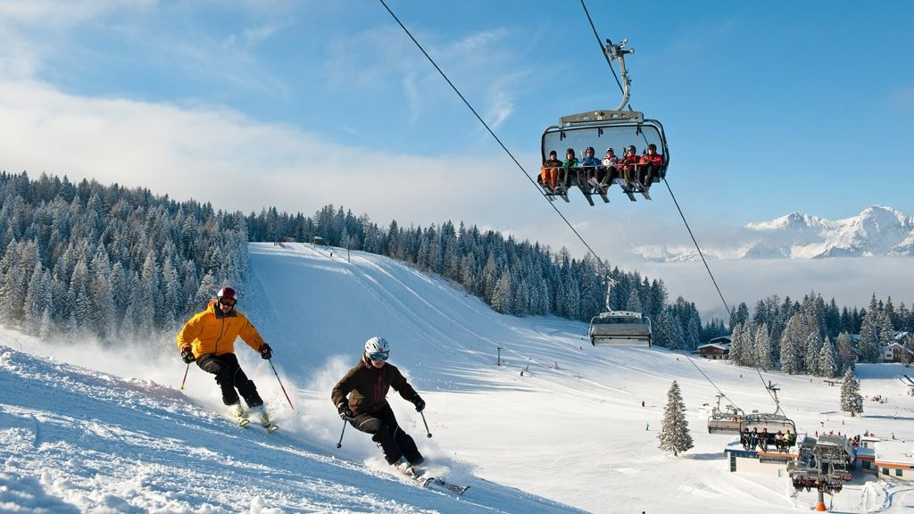 Skifahren auf den Hutterer Böden - Foto: TVB Pyhrn Priel