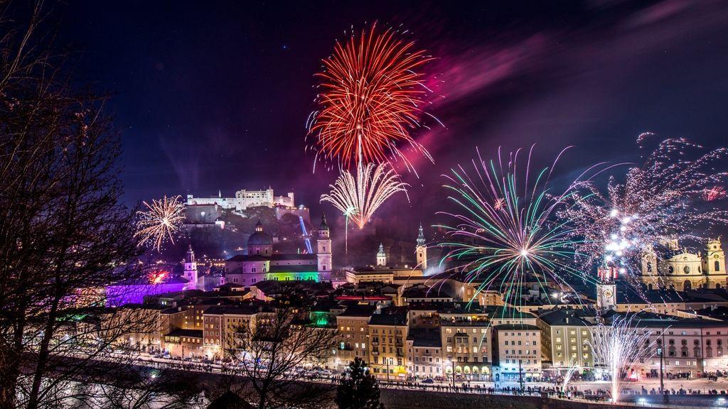 Feuerwerk über Salzburg - © Tourismus Salzburg