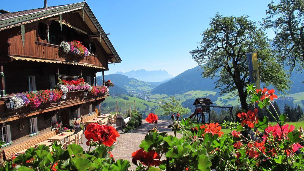 Bauernhof mit Tal Wildschönau - Wildschoenau (Region) Tirol