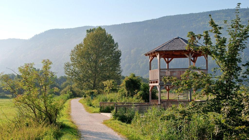 Aussichtsturm im Bleistätter Moor - Steindorf am Ossiacher See Kaernten