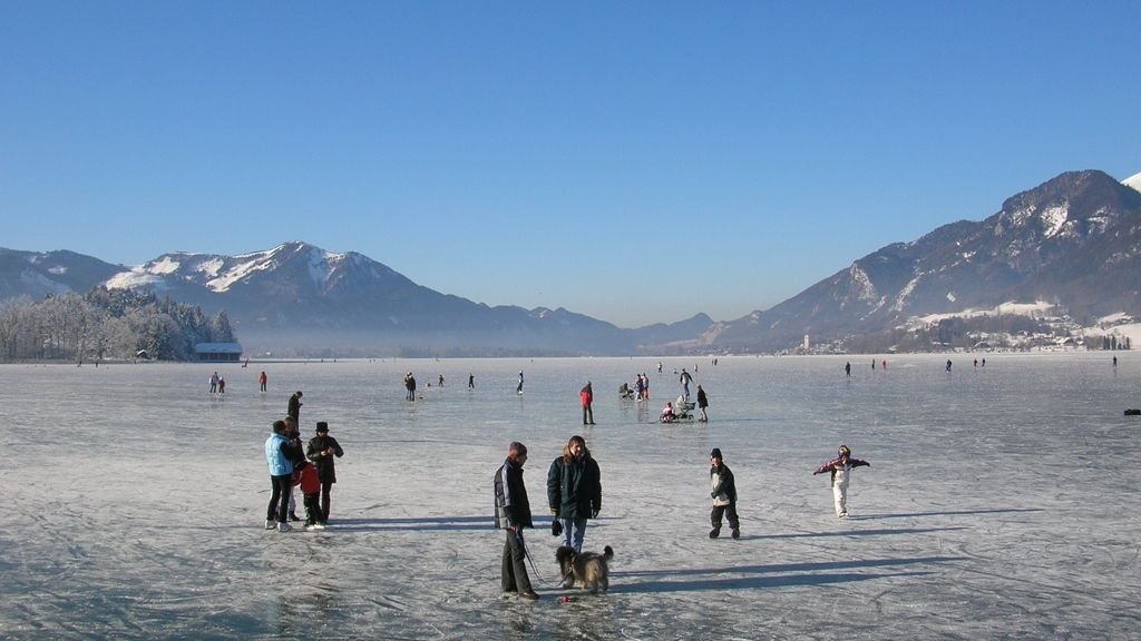 Eisvergnügen am Wolfgangsee © WTG