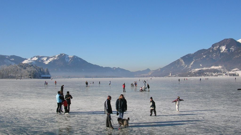 Eisvergnügen am Wolfgangsee - © WTG