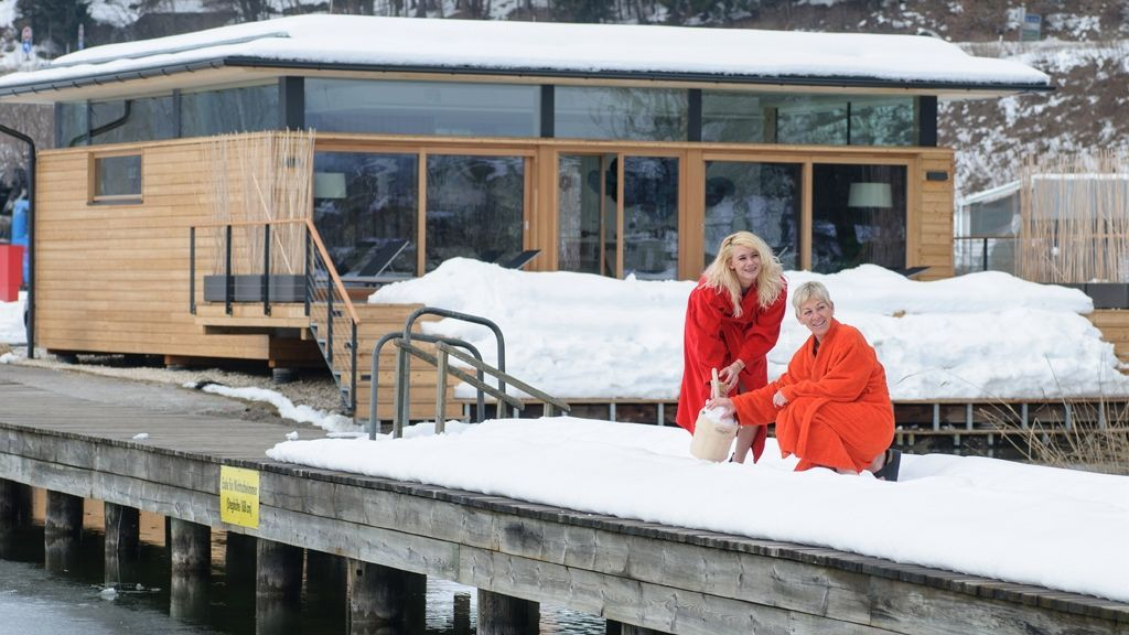 Wintercamping am Ossiacher See mit Wellness © Region Villach Tourismus GmbH