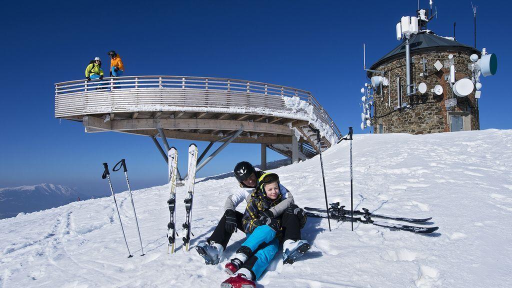 Österreich Kärnten Skifahren Gerlitzen Alpe Ossiacher See - Region Villach - Faaker See - Ossiacher See Kaernten