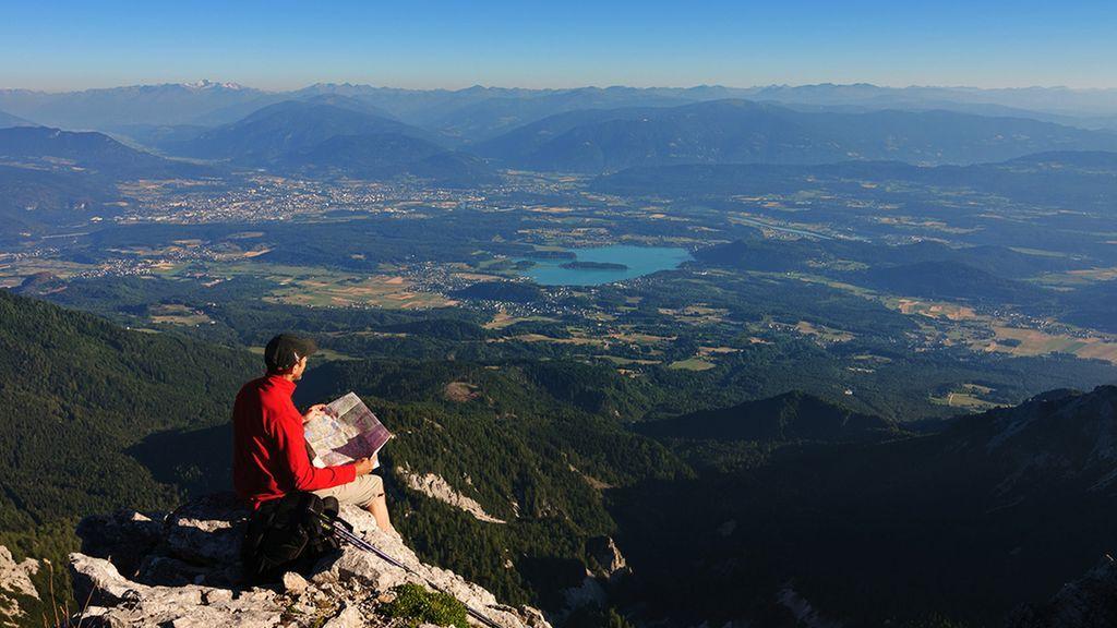 Österreich Kärnten Wandern Faaker See - Region Villach - Faaker See - Ossiacher See Kaernten