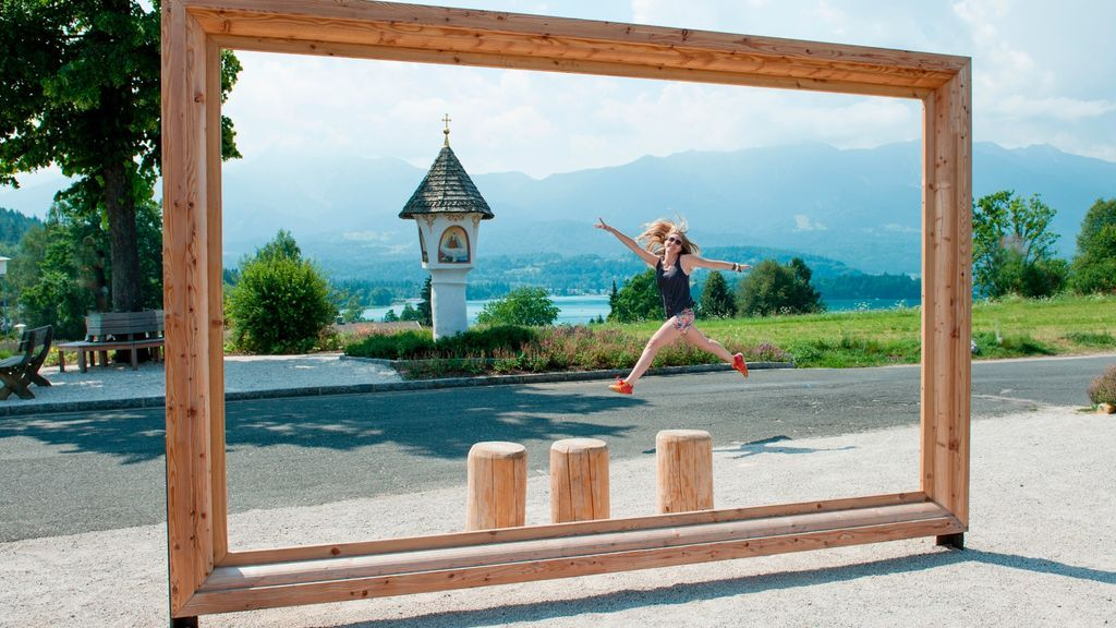 Österreich Kärnten Region Villach Faaker See Bilderrahmen Egg Marterl_LIK Fotoakademie_Michael Winter