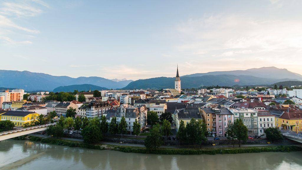 Blick auf die Villacher Innenstadt © Region Villach Tourismus GmbH