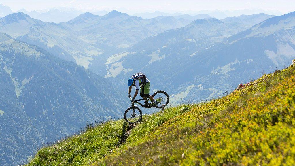 Mountainbiken am Diedamskopf