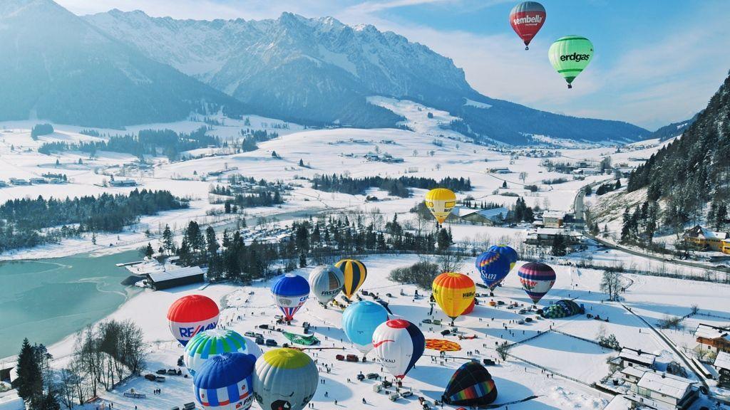 Alpin Ballooning im Kaiserwinkl Kaiserwinkl/Tirol ©TVB Kaiserwinkl