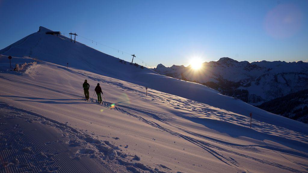Sonnenaufgang im Skigebiet Mellau-Damüls - Mellau Vorarlberg