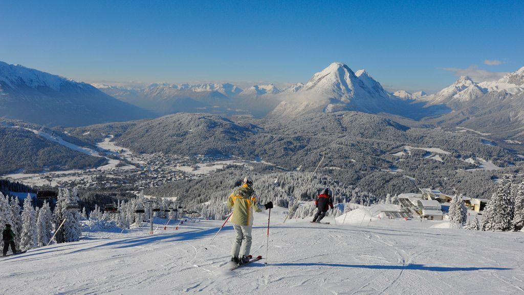 Skifahren auf der Rosshütte in Seefeld - Foto: Olympiaregion Seefeld