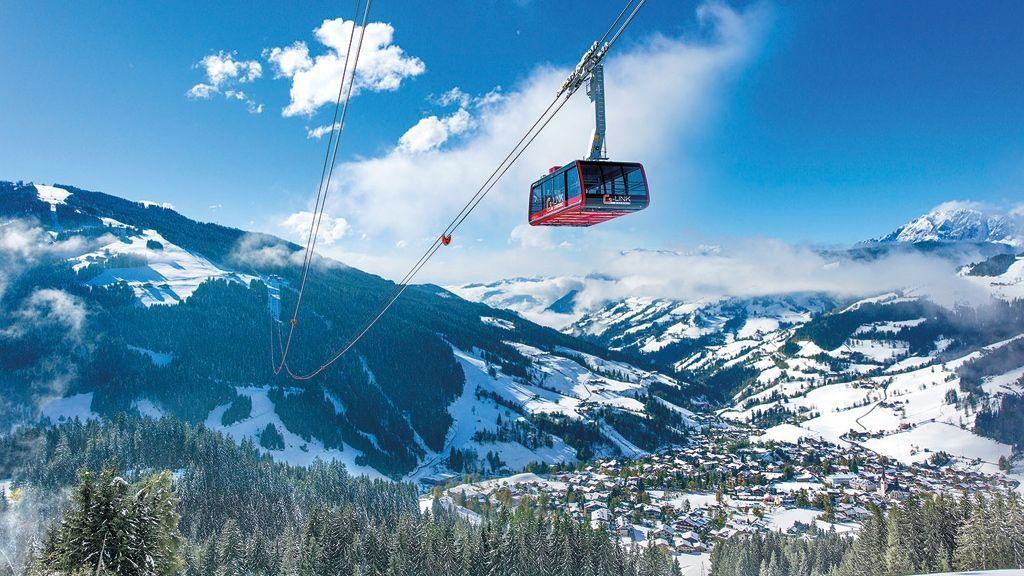 (c) Oczlon / Bergbahnen Wagrain - Die in der Wintersaison 2013/14 erbaute G-Link-Wagrain verbindet die beiden Skiberge Grießenkareck und den Grafenberg. Somit ist die Skiregion von Flachau über Wagrain bis nach Alpendorf durchgehend verbunden.