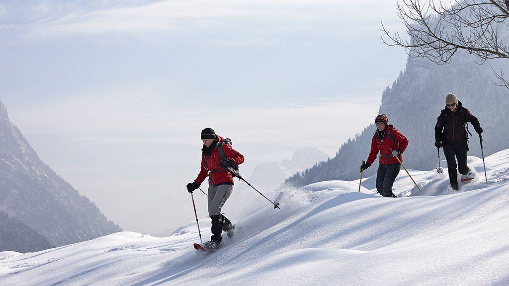 Schneeschuhwanderer - © Adolf Bereuter/Bregenzerwald Tourismus - Bregenzerwald Vorarlberg