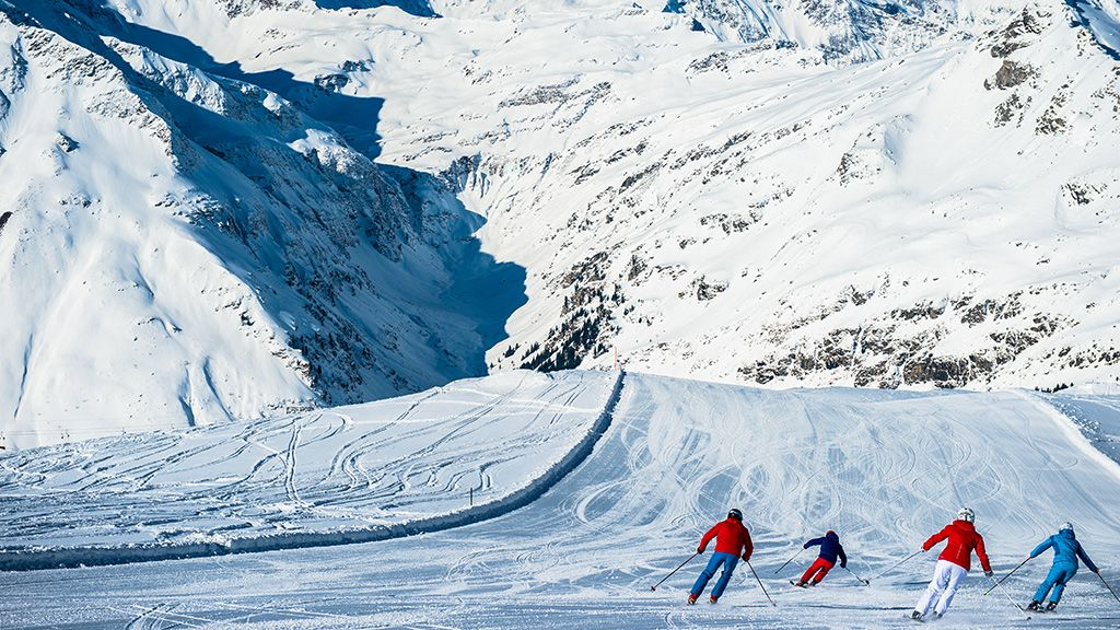 Abfahrten mit traumhaften Panorama - © Ski amadé - Ski Amade Altenmarkt-Zauchensee