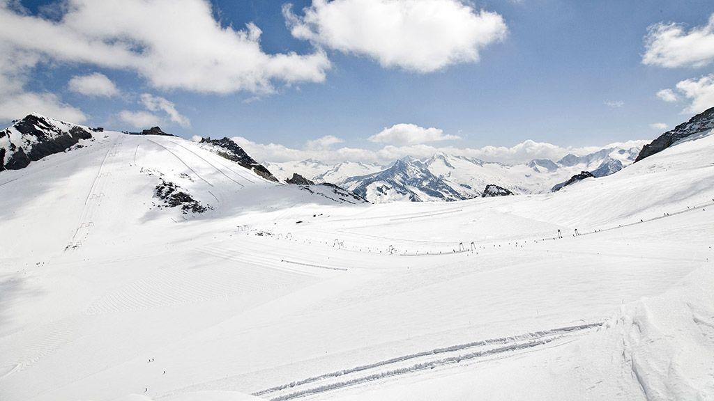 Blick zur Gefrorenen Wand Spitze - © Zillertaler Gletscherbahn/Christoph Schoech - Hintertuxer Gletscher Tux/Hintertux