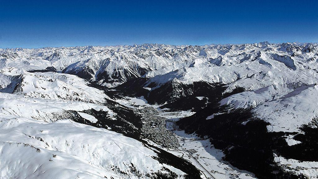 Blick auf Davos - © Destination Davos Klosters