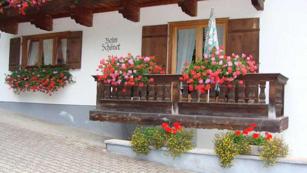 Balkon der Ferienwohnung - Fewo Kirchberger - Haus Schoenet - Kreuth-Schaerfen Kreuth