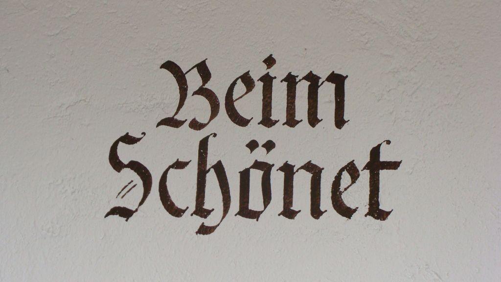 """Der Hausname """" Haus Schönet """" - Fewo Kirchberger - Haus Schoenet - Kreuth-Schaerfen Kreuth"""