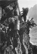 Die Leitern früher - Transportweg - Albinen bei Leukerbad Wallis