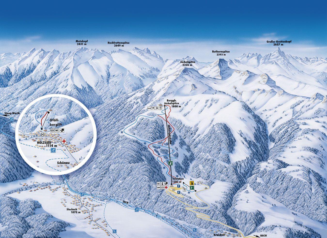 Lechtaler Bergbahn - Joechelspitze Bach-Stockach