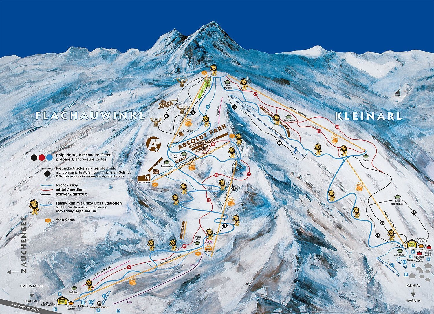 Shuttleberg Flachauwinkl/Kleinarl - ski amade Flachau