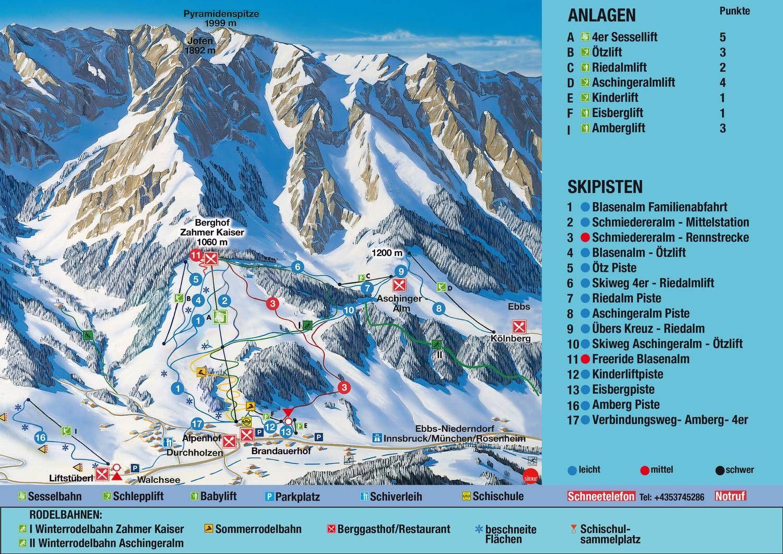 Skizentrum Zahmer Kaiser – Walchsee/Ebbs Walchsee