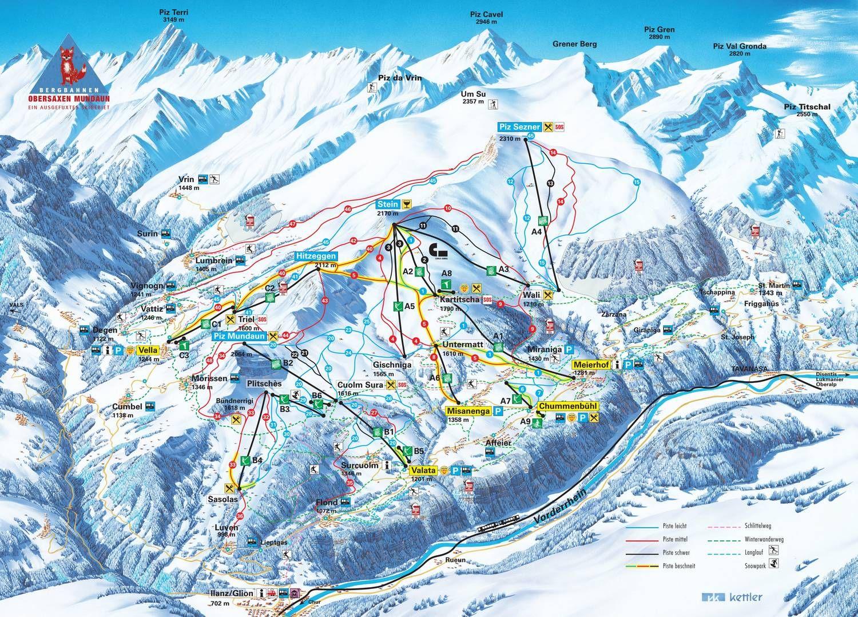 Obersaxen - Mundaun - Val Lumnezia Meierhof/Obersaxen
