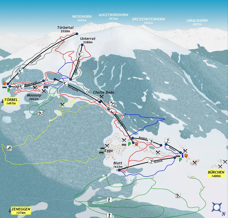 Moosalp Bergbahnen - Buerchen/Toerbel Buerchen