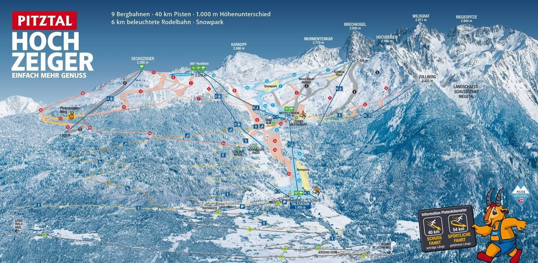 Hochzeiger Bergbahnen Pitztal Jerzens im Pitztal