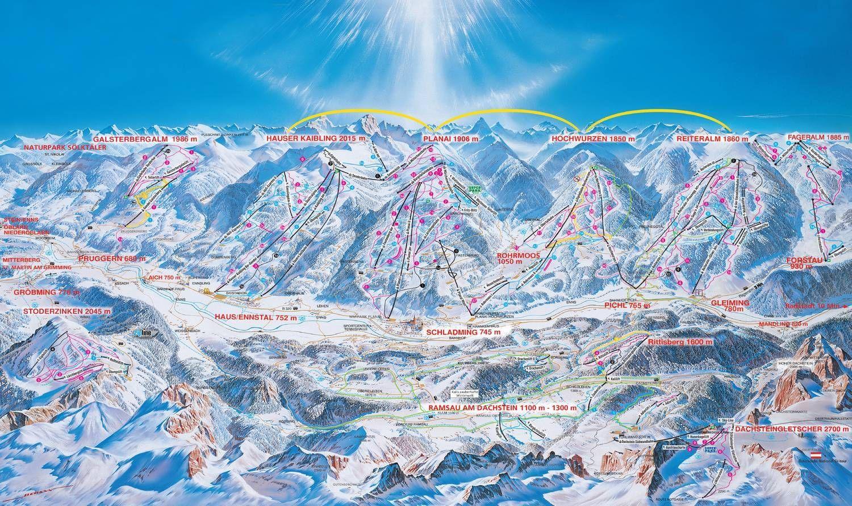 4-Berge-Skischaukel Reiteralm-Hochwurzen-Planai-Hauser Kaibling Pichl-Reiteralm