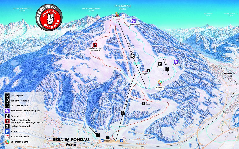 Eben - Monte Popolo (Ski amade) Eben im Pongau