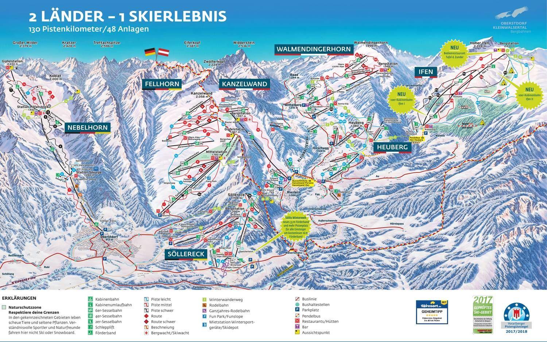 2-regioni: Kanzelwand/Fellhorn Riezlern