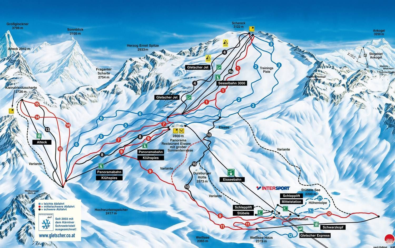 Moelltaler Gletscherbahnen Flattach