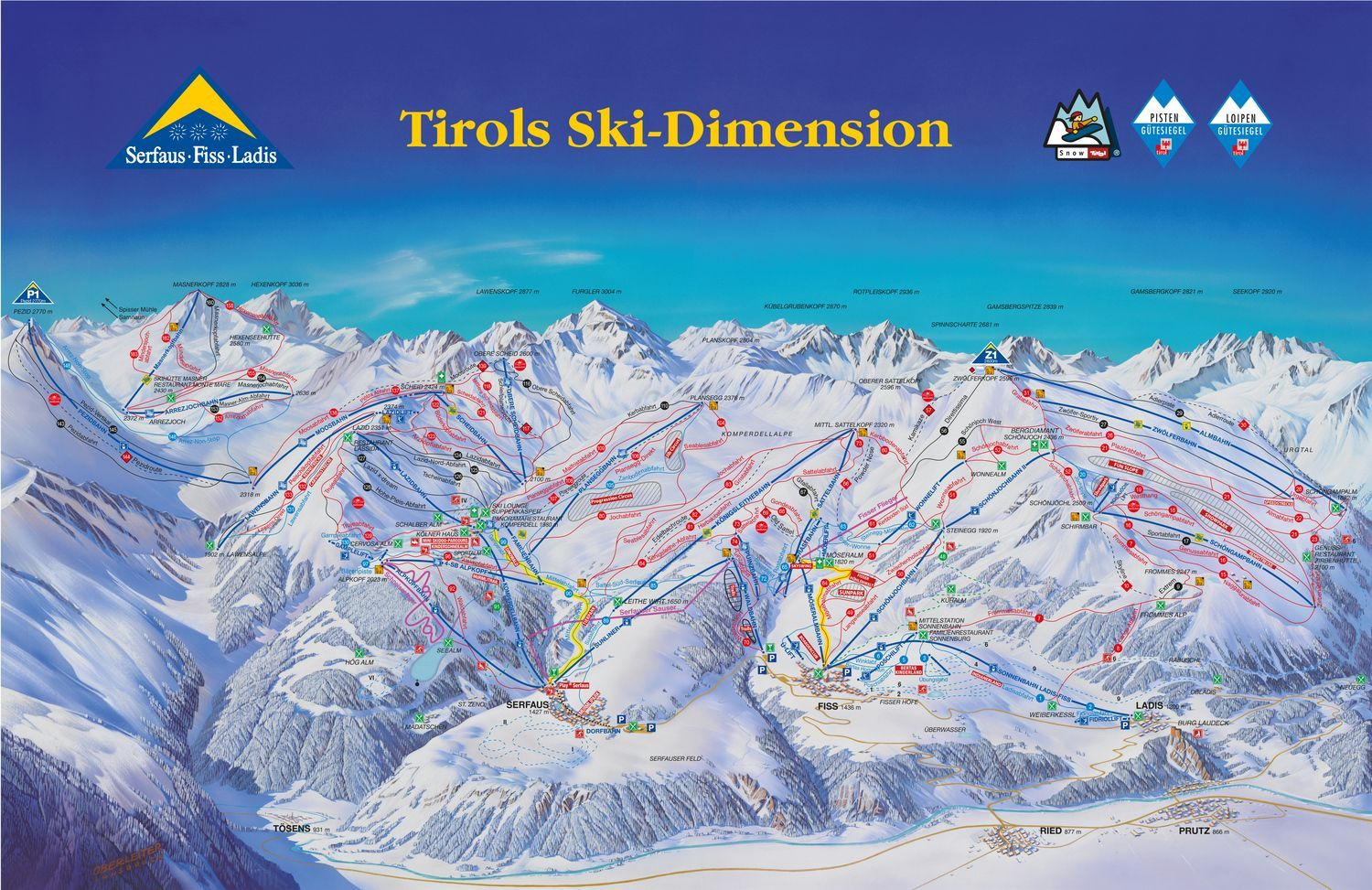 Serfaus-Fiss-Ladis - Tirols Skidimension