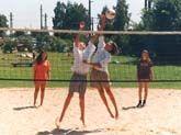 Beach-Volleyballplatz im Freibad