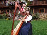 Bauernbuffet mit Harfenmusik