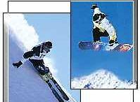 Ski-, Snowboard- und Rodelverleih Sport Stock