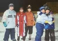 Eisläufer bei Nacht - Trattenbach Niederoesterreich
