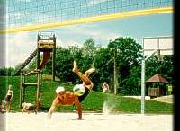 Beach-Volleyballplatz