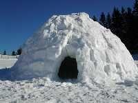 snow building - St.  Anton  a.  d.  Jeßnitz Lower Austria