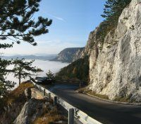 Hohe Wand Straße im Nebelmeer - Hohe Wand Niederoesterreich